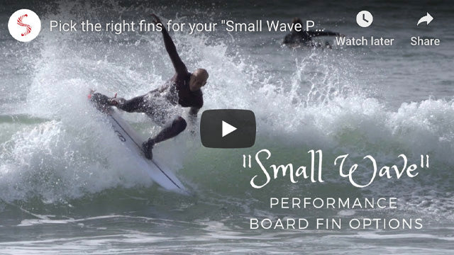 "Pick the right fins for your ""Small Wave Performance Boards"" by Noel Salas Ep2"