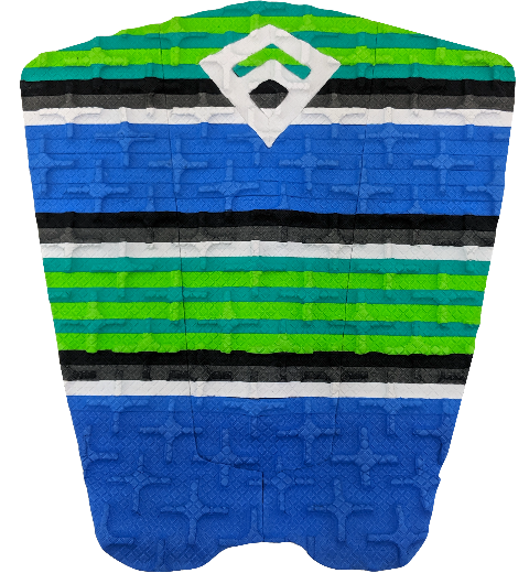 Freak Phantom III Flat Traction Pad - Blue/Green/Black