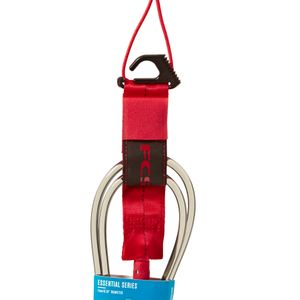FCS 9' Regular Ankle Essential Surfboard Leash Red