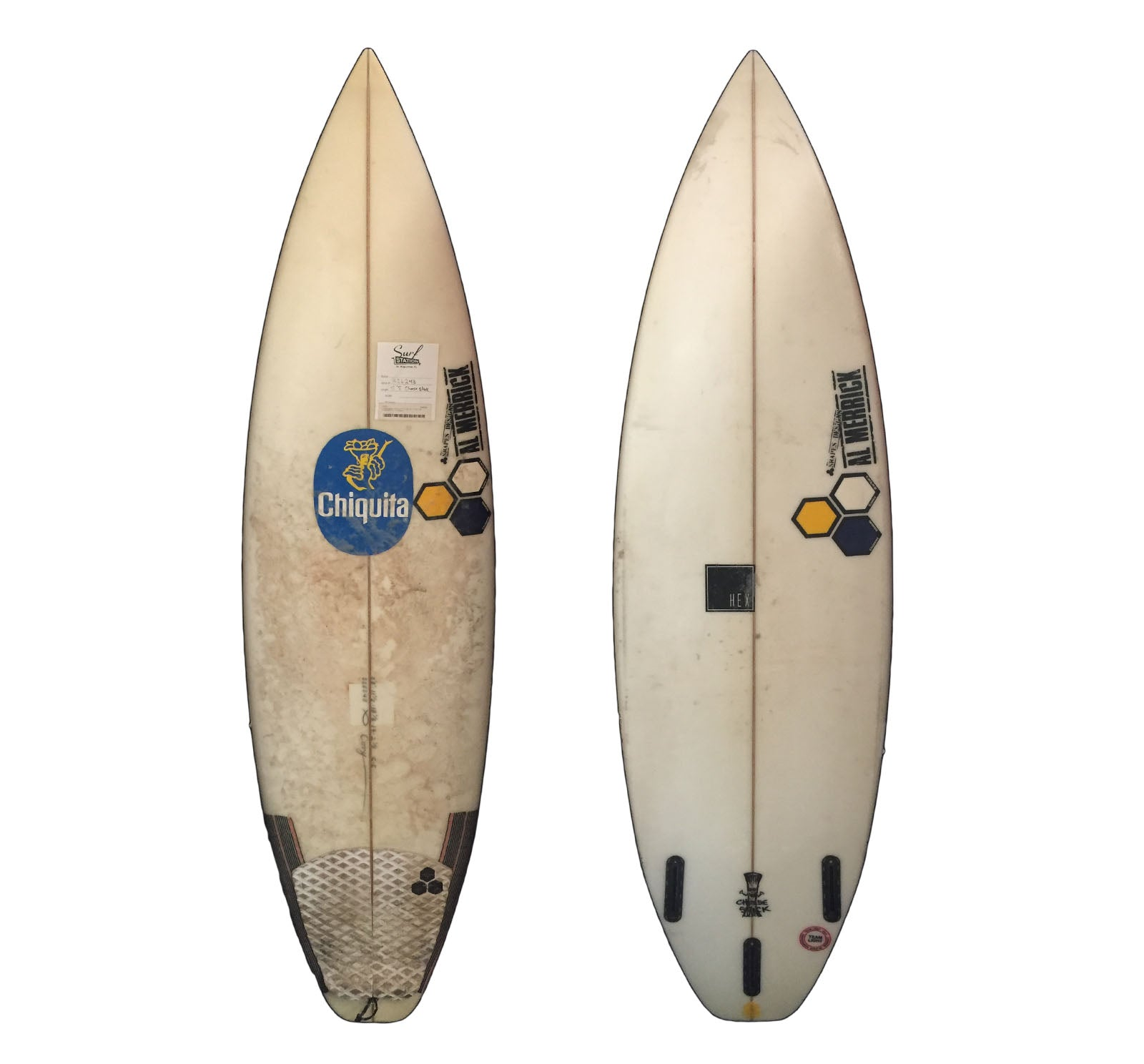 Channel Islands Cheese Stick 5'8 x 18 1/8 x 2 1/8 Used Surfboard (Team Custom For Cory Arrambide)