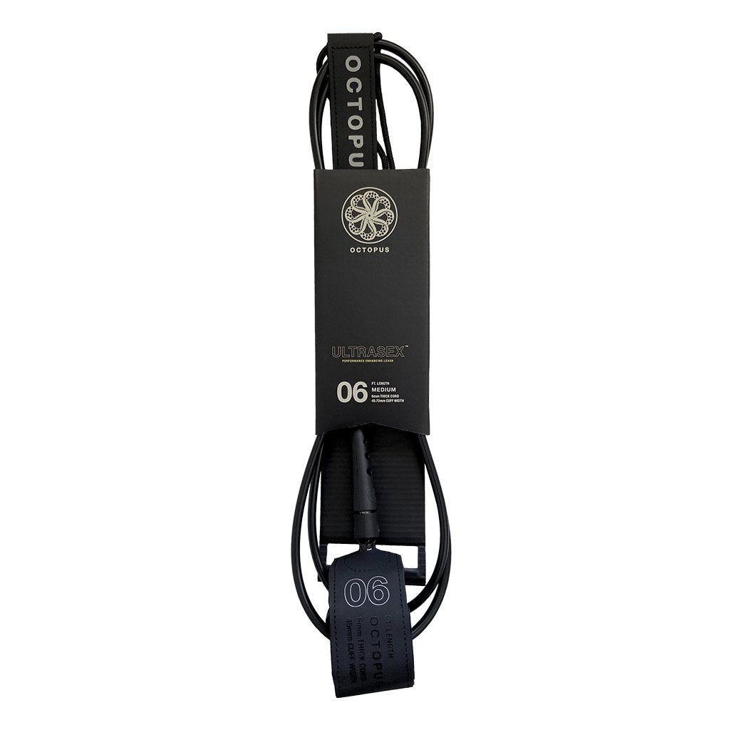 Octopus 6' UltraSex Surfboard Leash - Black