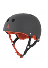 Triple 8 Brainsaver Rubber Helmet - Black/Red