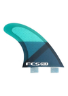FCS PC-5 Two Tab Medium Tri Fin Set - Blue Slice