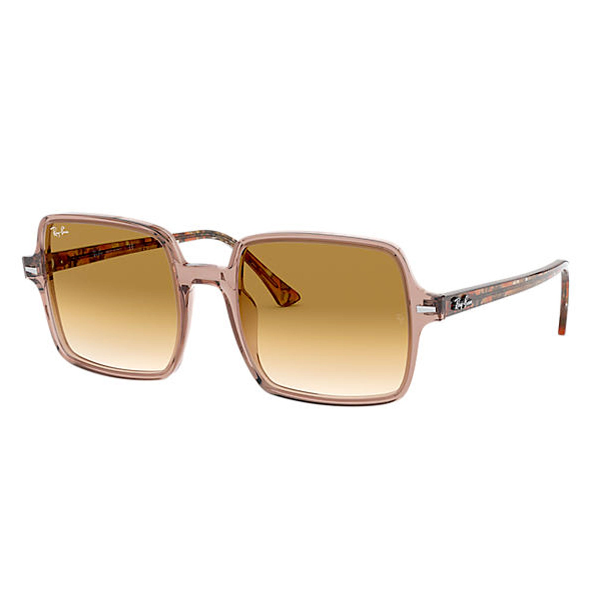 Ray-Ban Square II Women's Sunglasses - Transparent Light Brown/Brown Gradient