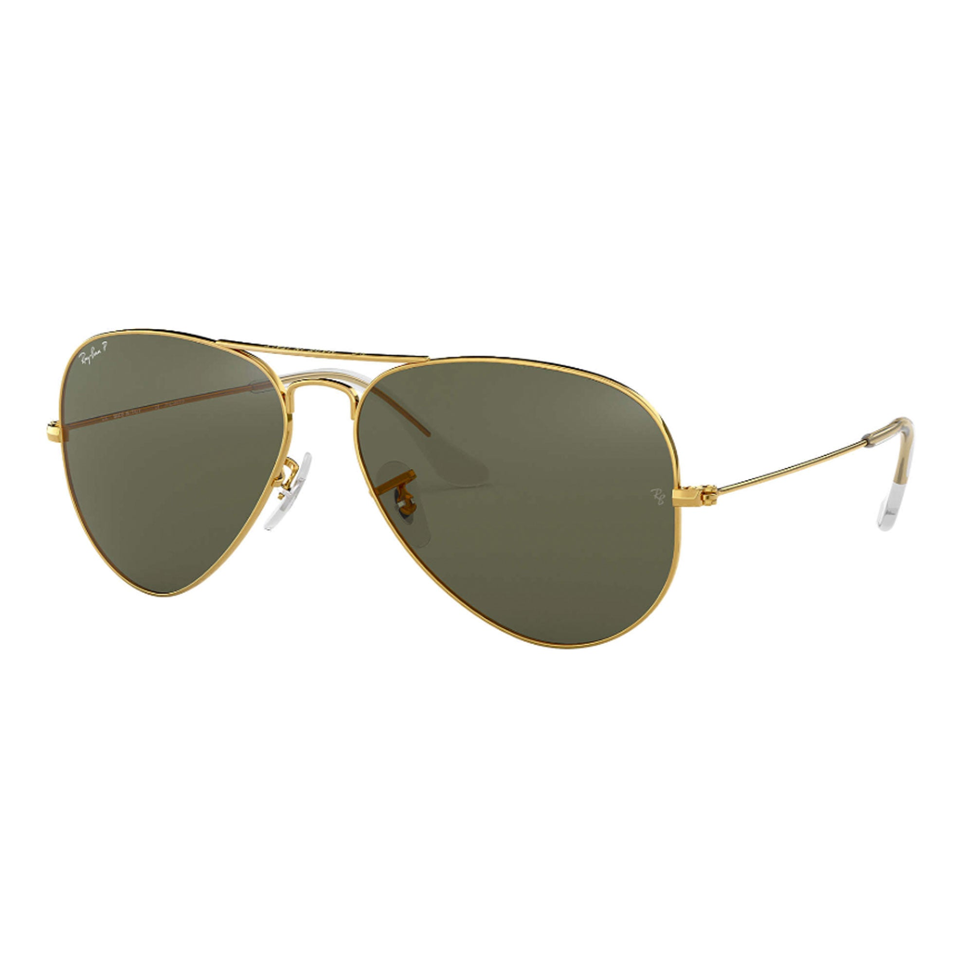 Ray-Ban Aviator Large Women's Sunglasses - Polarized - Gold/Crystal Green