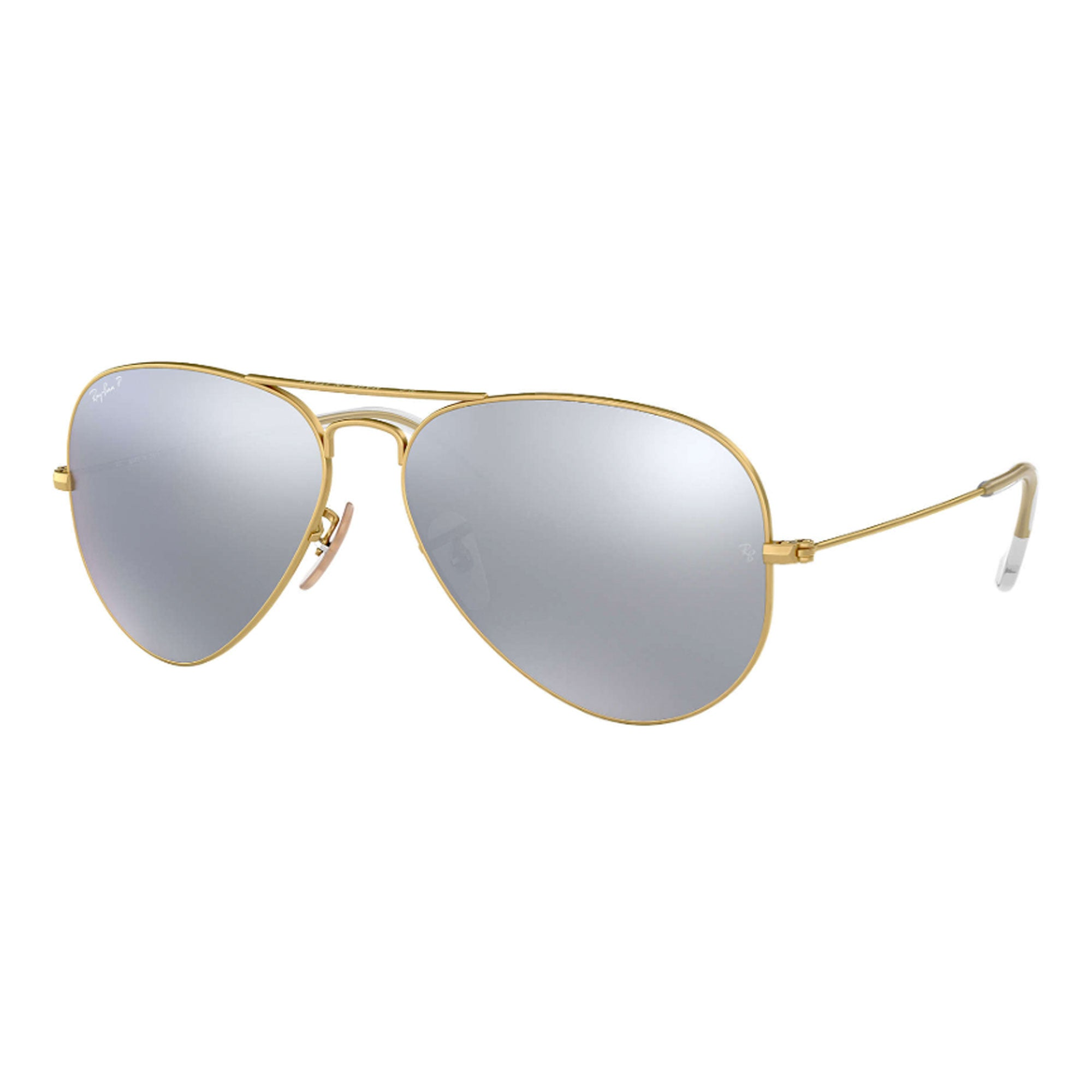 Ray-Ban Aviator Large Women's Sunglasses - Matte Gold/Dark Grey Mirror