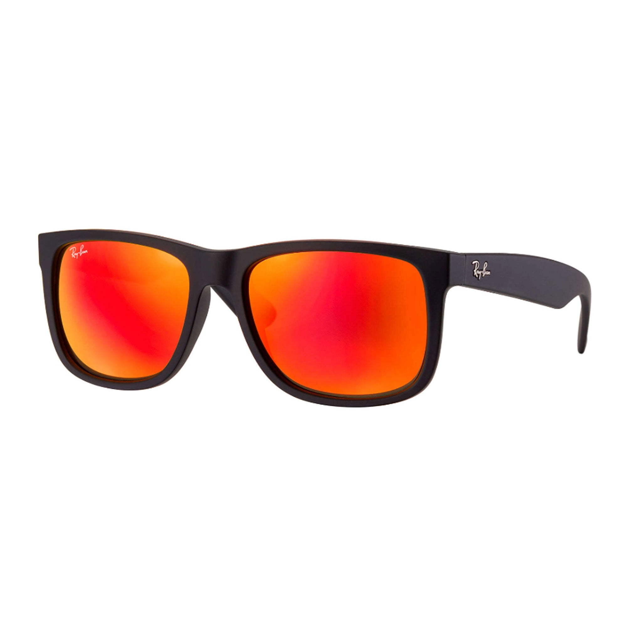 Ray-Ban Justin Classic Men's Sunglasses - Rubber Black/Orange Mirror