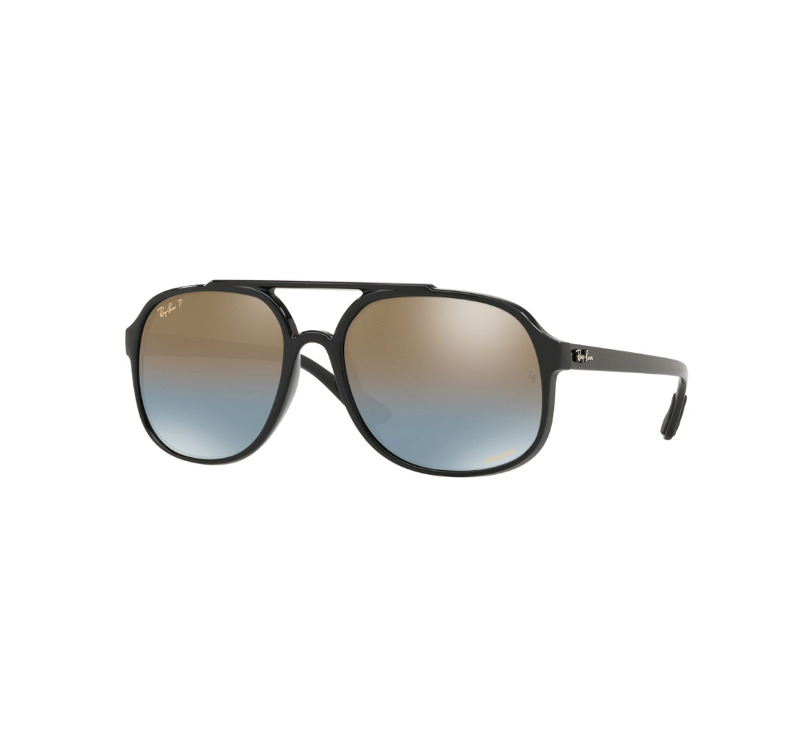 14b0f09ecd Ray-Ban 4312 Men s Sunglasses - Black Frame Blue Mirror Gold Gradient -  Surf Station Store