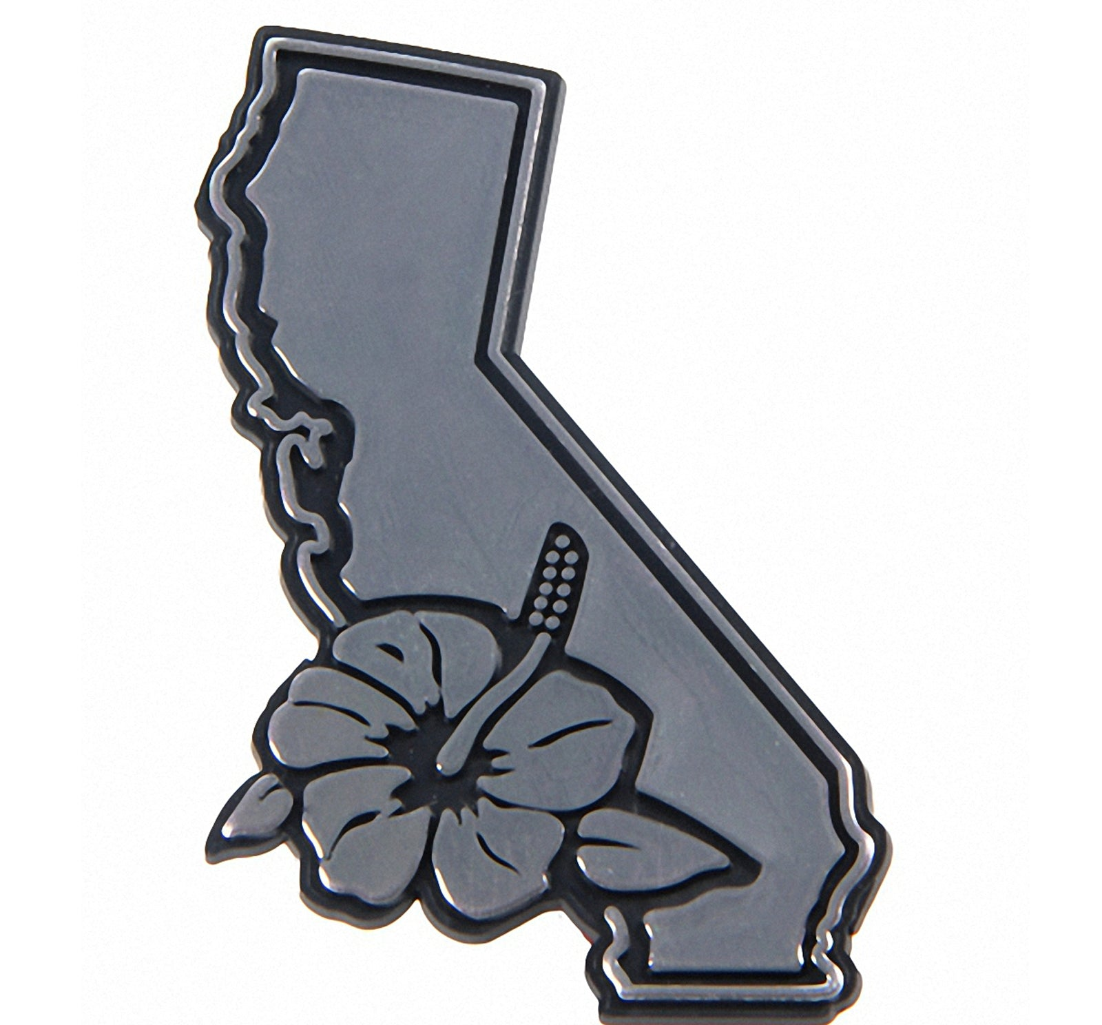 Wet Products Cutback Car Emblem - California/Hibiscus