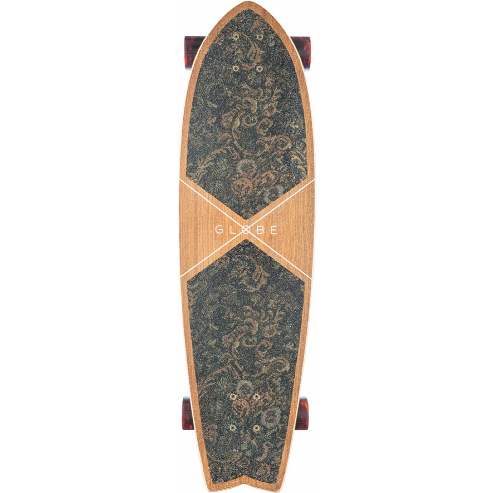 "Globe Chromantic 33"" Skateboard - Teak/Floral Couch"