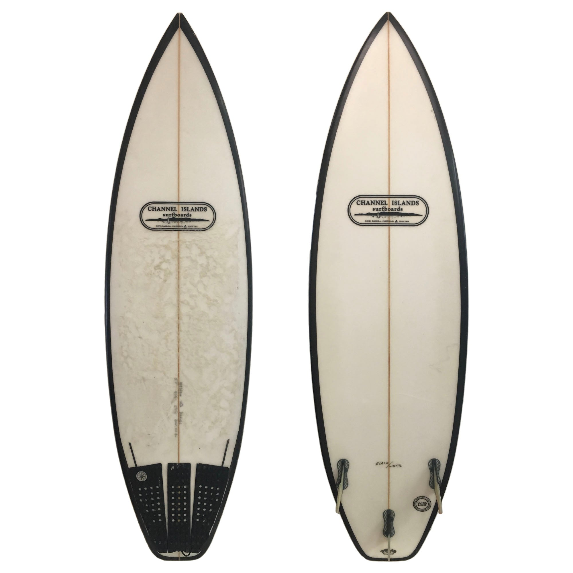 Channel Islands Black and White 5'7 Used Surfboard