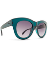 Dot Dash Headspace Women's Sunglasses - Teal Frame/Purple Gradient Lens