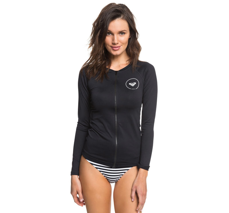 Roxy Essentials Zip-Up Women's L/S Rashguard