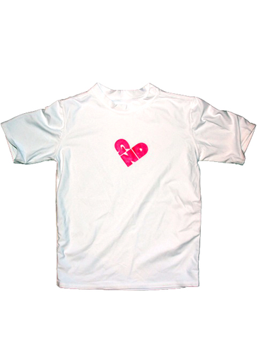Girl Next Door Heart Logo Youth Girls S/S Rashguard