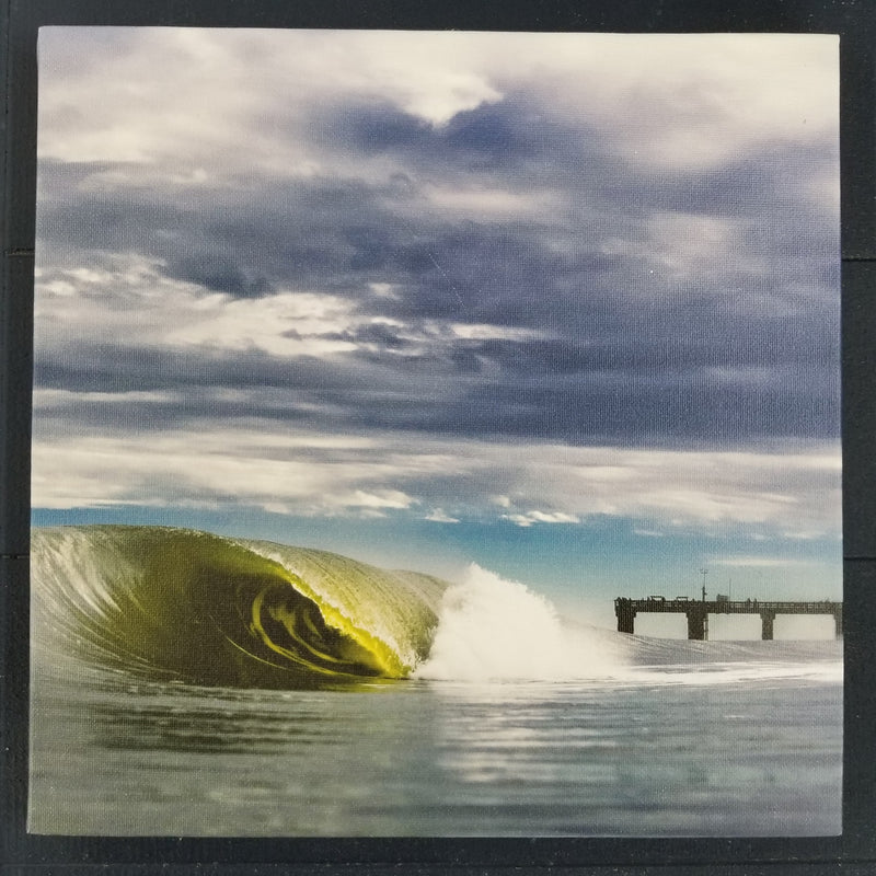 "St. Augustine Pier Wave 12""x12"" Surf Print by Jared Jeffs"
