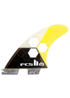 FCS II Channel Islands AM PC Small Tri Fin Set - Yellow