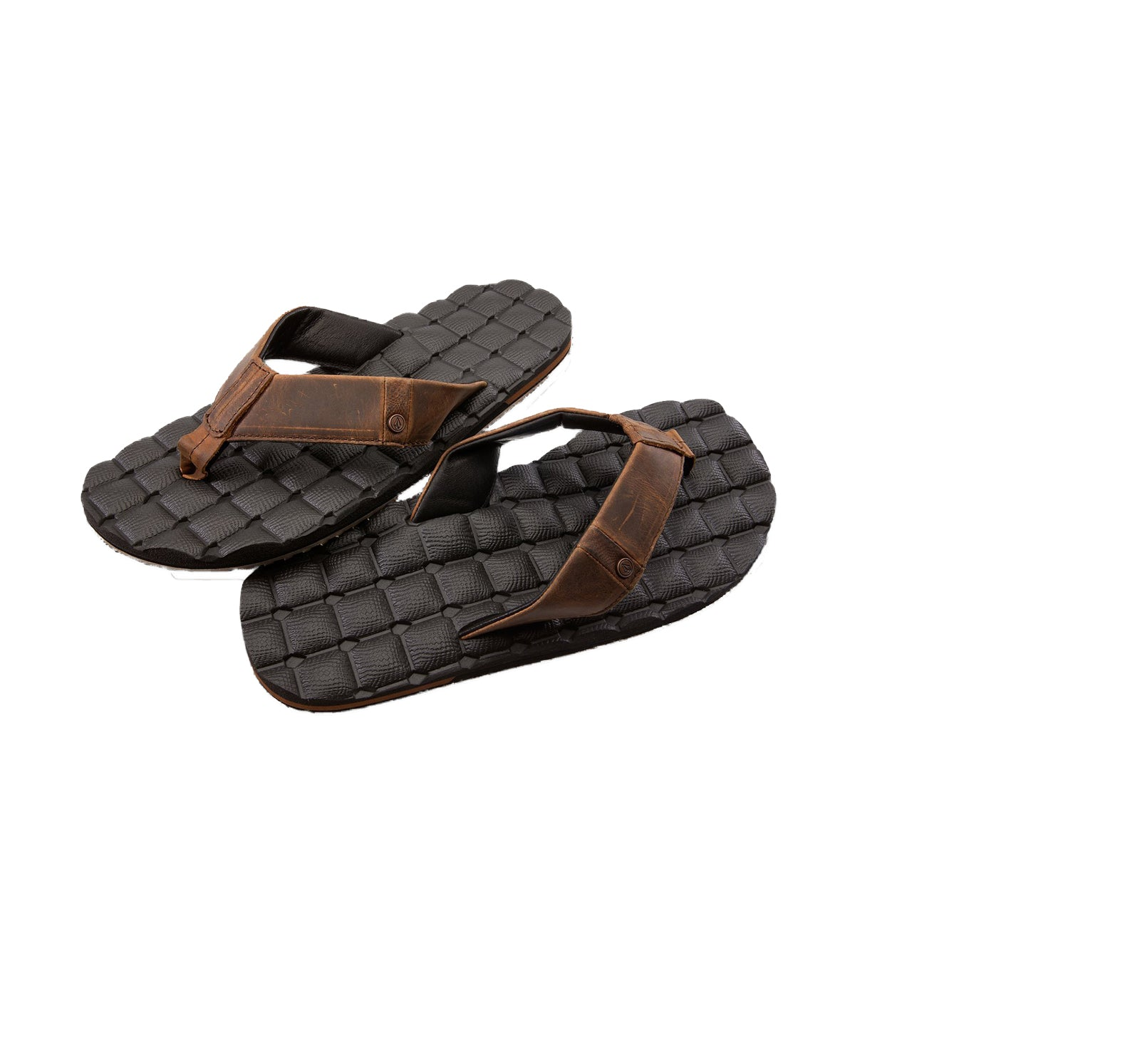 Volcom Men's Recliner Leather Sandal
