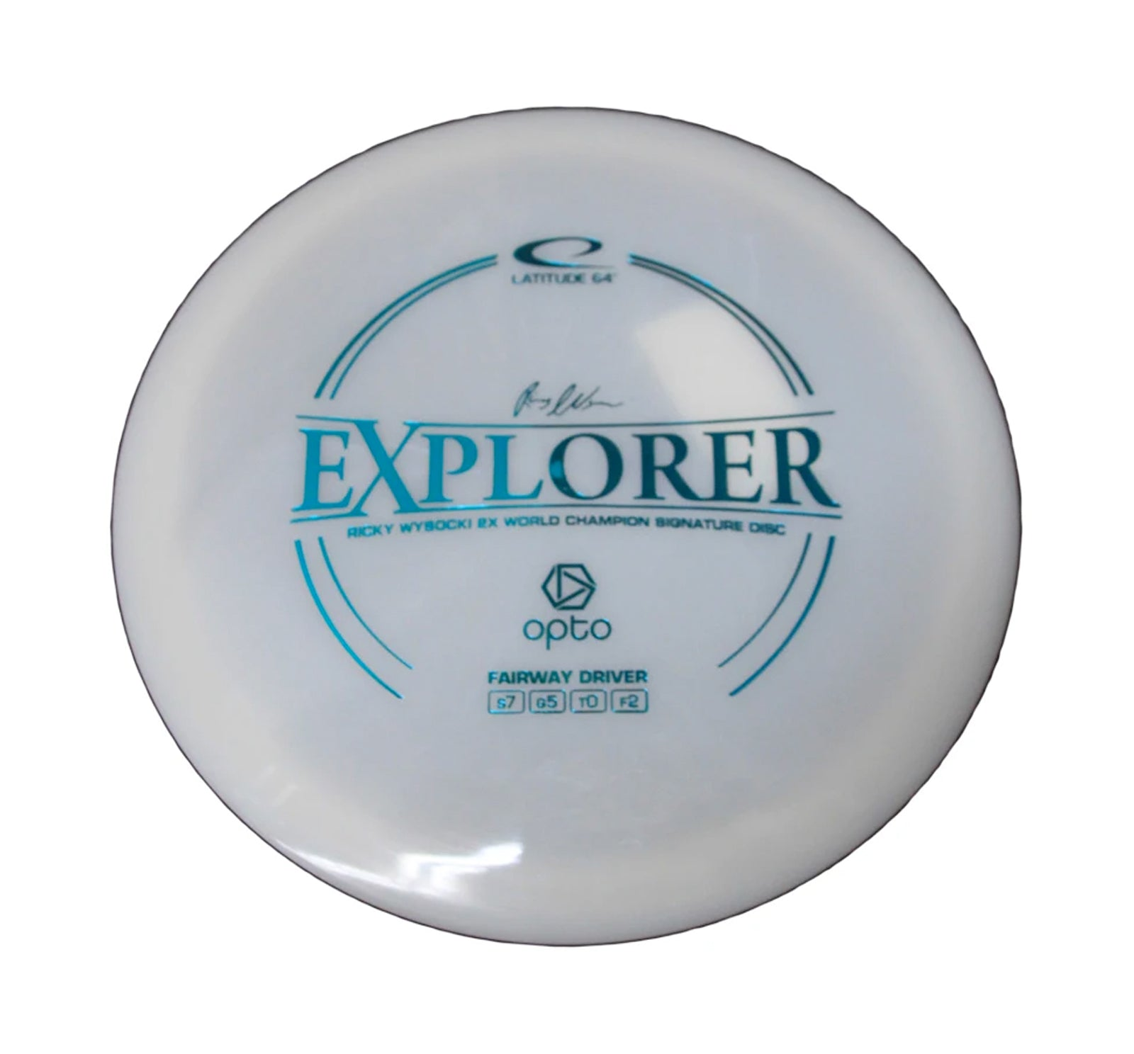 Latitude 64 Opto Explorer Fairway Driver Disc White