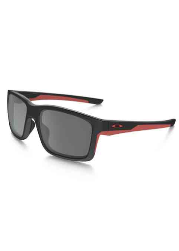 Oakley Mainlink Men's Sunglasses - Matte Black/Red Frame/Black Iridium Lens