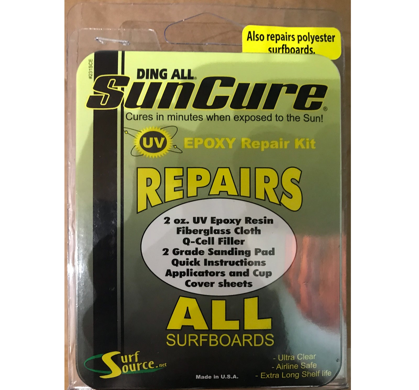 Ding All Sun Cure Epoxy Repairs ALL Kit