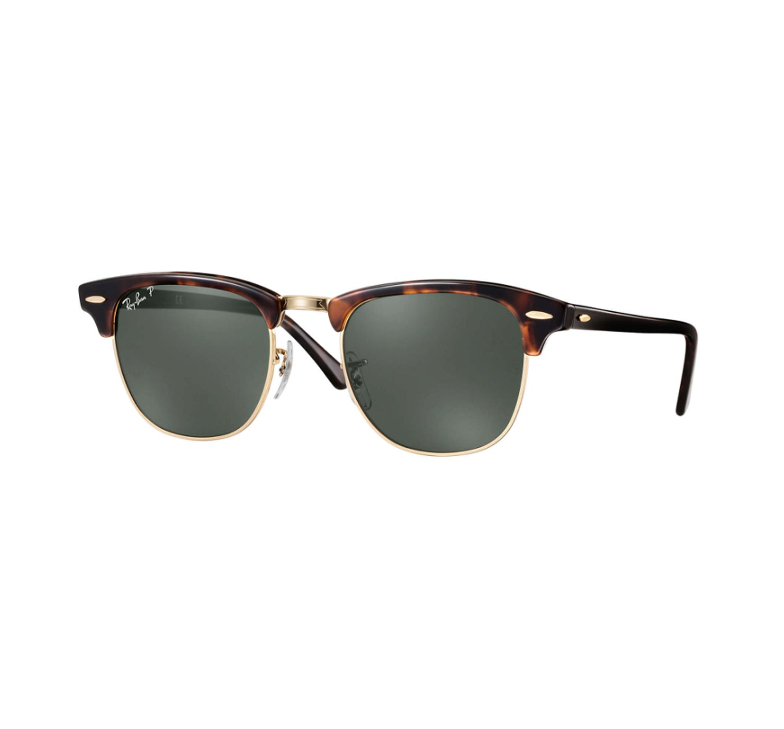 c682be8eb6e Ray-Ban Clubmaster Men s Sunglasses - Red Havana Frame Green Polarized -  Surf Station Store