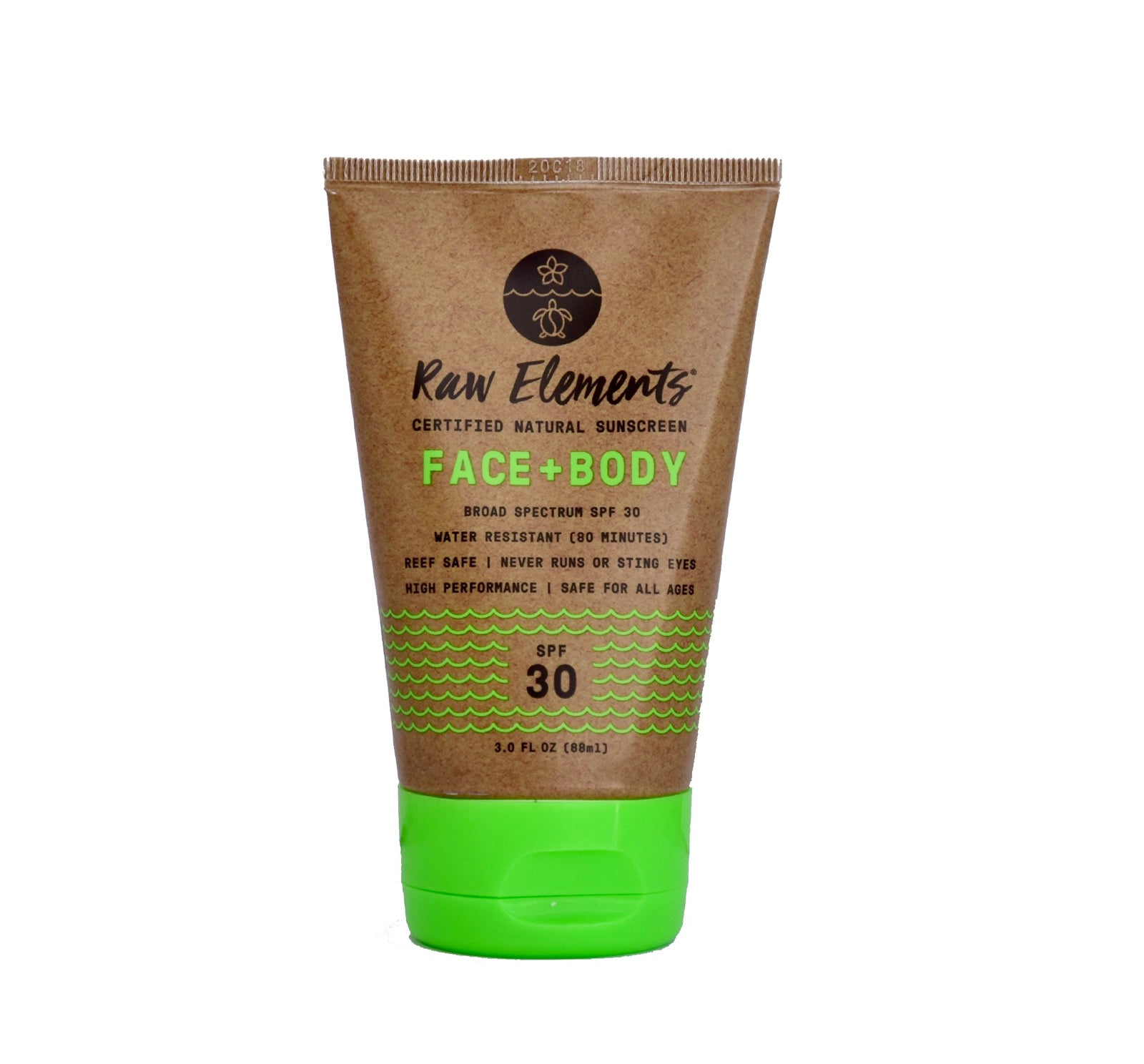 Raw Elements Face & Body SPF 30 Sunscreen Lotion - Tube
