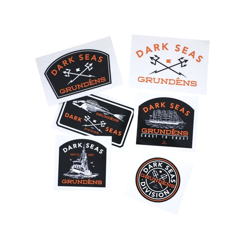 Dark Seas X Grundens stickers