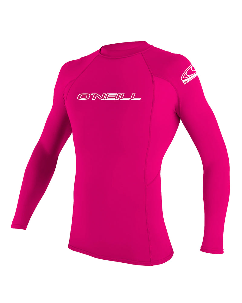 O'Neill Basic Skins Tight Fit Youth Girl's L/S Rashguard