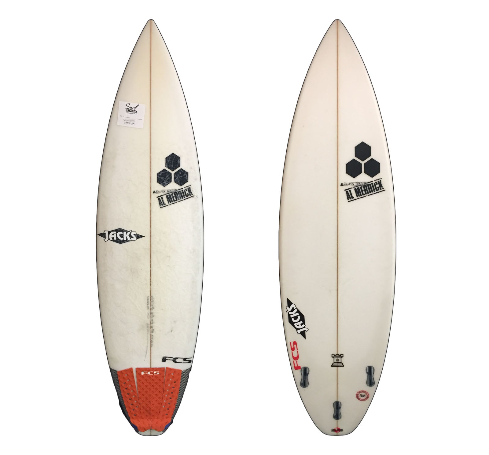 Channel Islands Rookie 15 5'11 1/2 x 18 3/4 x 2 5/16 26.8L Used Surfboard (Team Custom For Kiron Jabour)