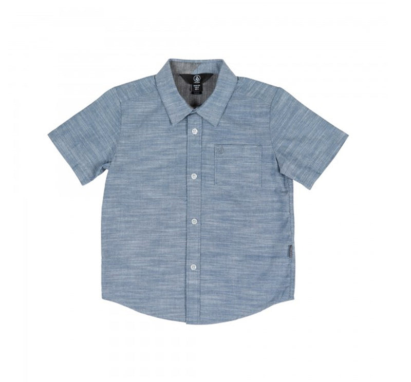 Volcom Everett Oxford Toddler Boy's S/S Dress Shirt