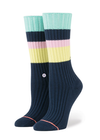 Richer Poorer Theo Crew Men's Socks - Blue Cream