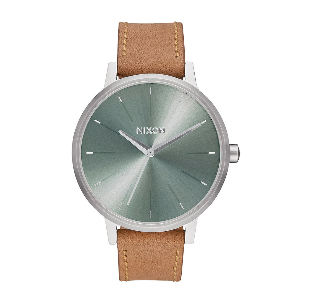 Nixon Kensington Leather Women's Watch - Saddle/Sage