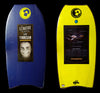 Pride Lewy Finnegan Animal Polypro Bodyboard, 41'' - Dark Blue/Yellow