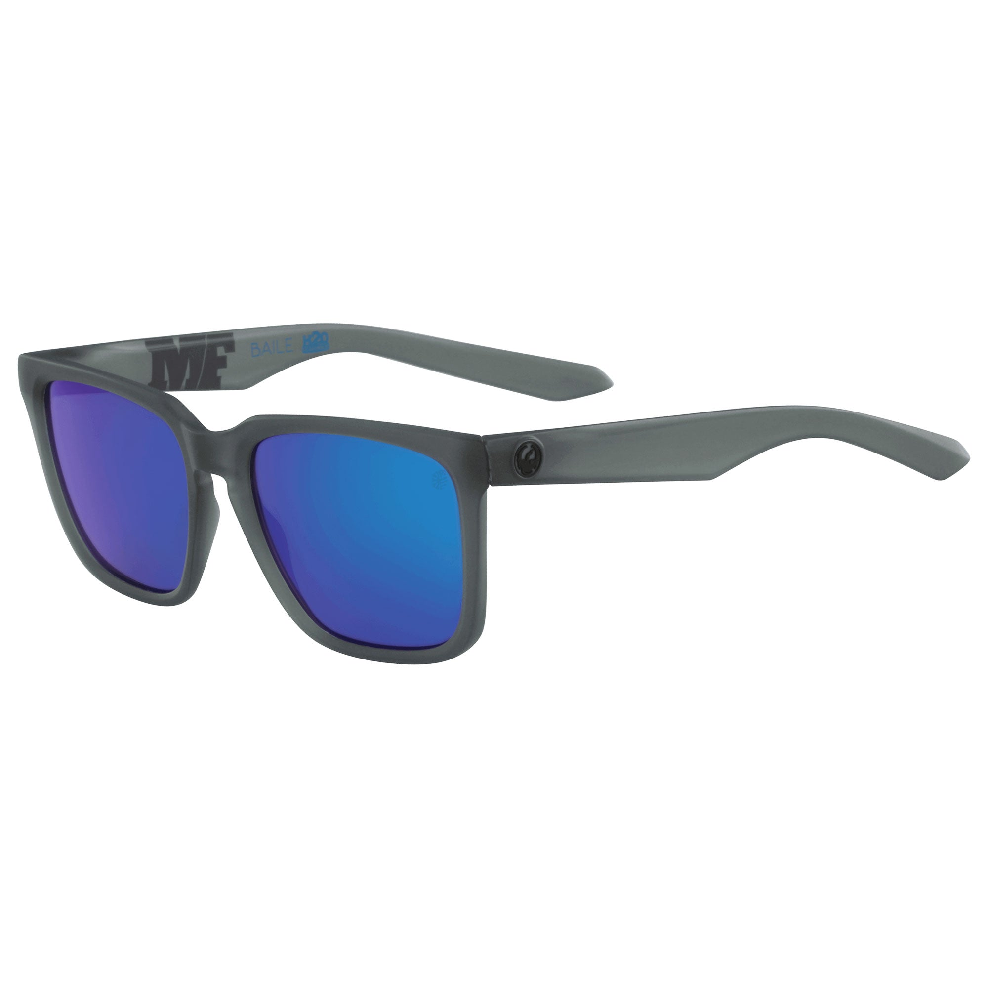 Dragon Baile LL H2O Men's Sunglasses - Matte Crystal Grey/LL Blue Ion