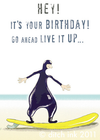 Ditch Ink Wet Suit Greeting Card