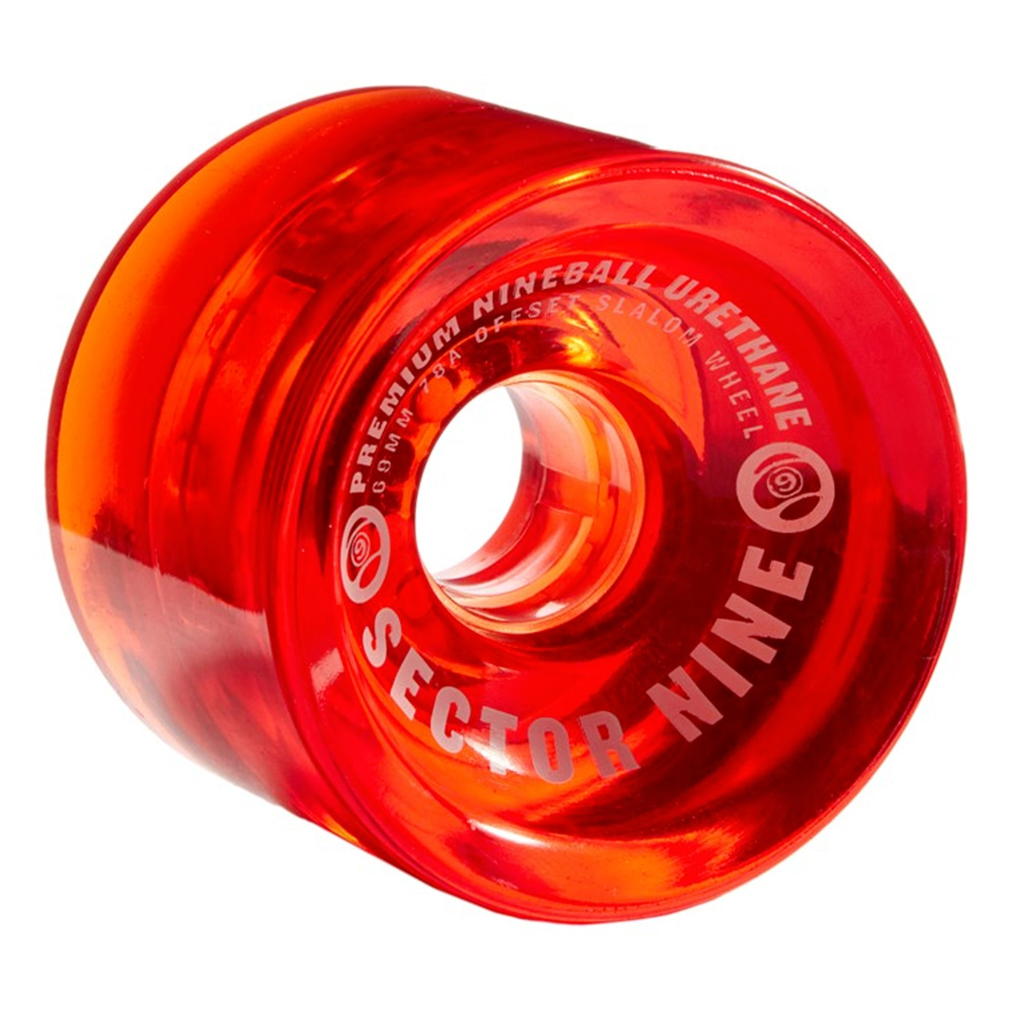 Sector 9 Nineballs 65mm Slalom 78a Cruiser Wheels - Warm Red
