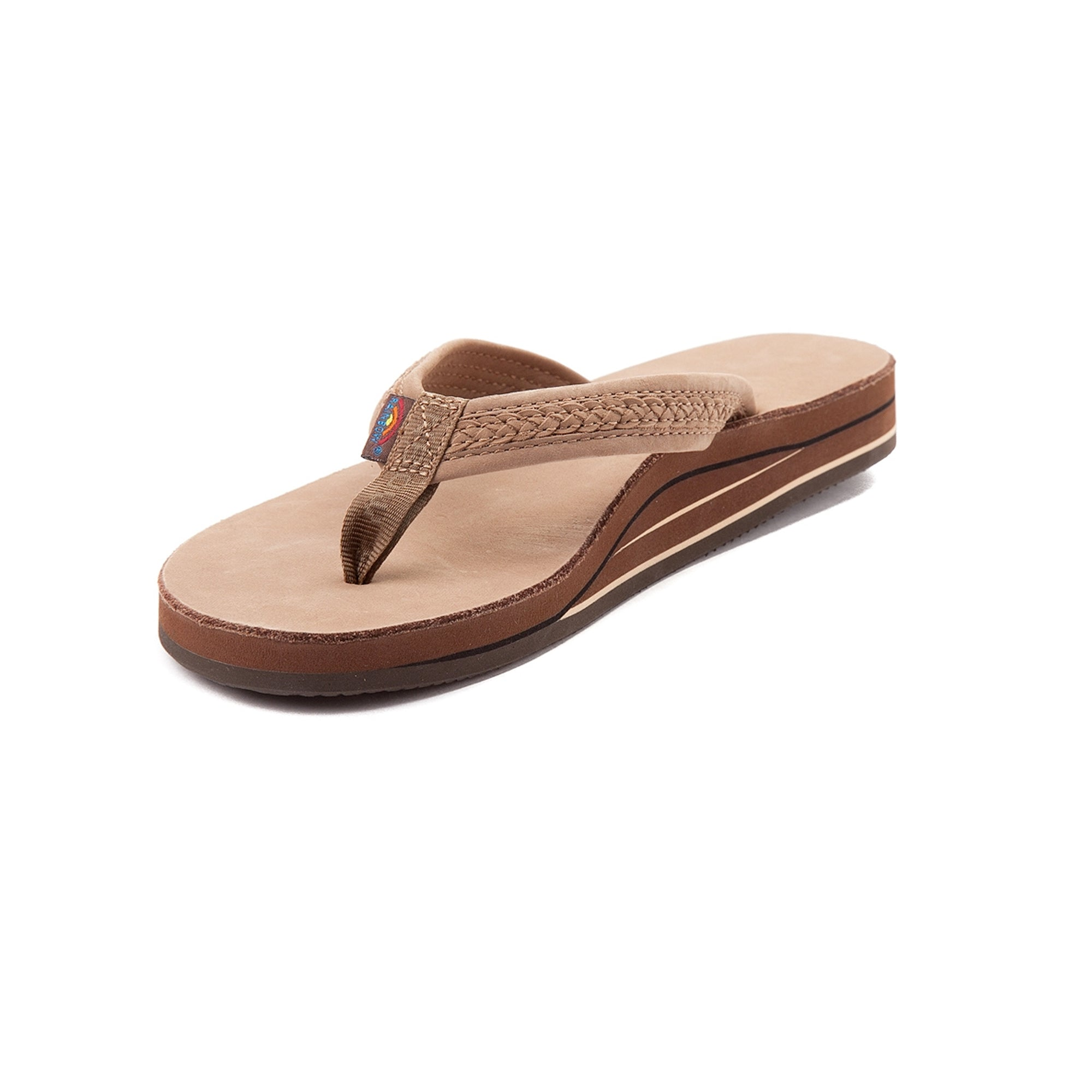 Rainbow Willow Double Layer Arch Women's Sandals - Dark Brown