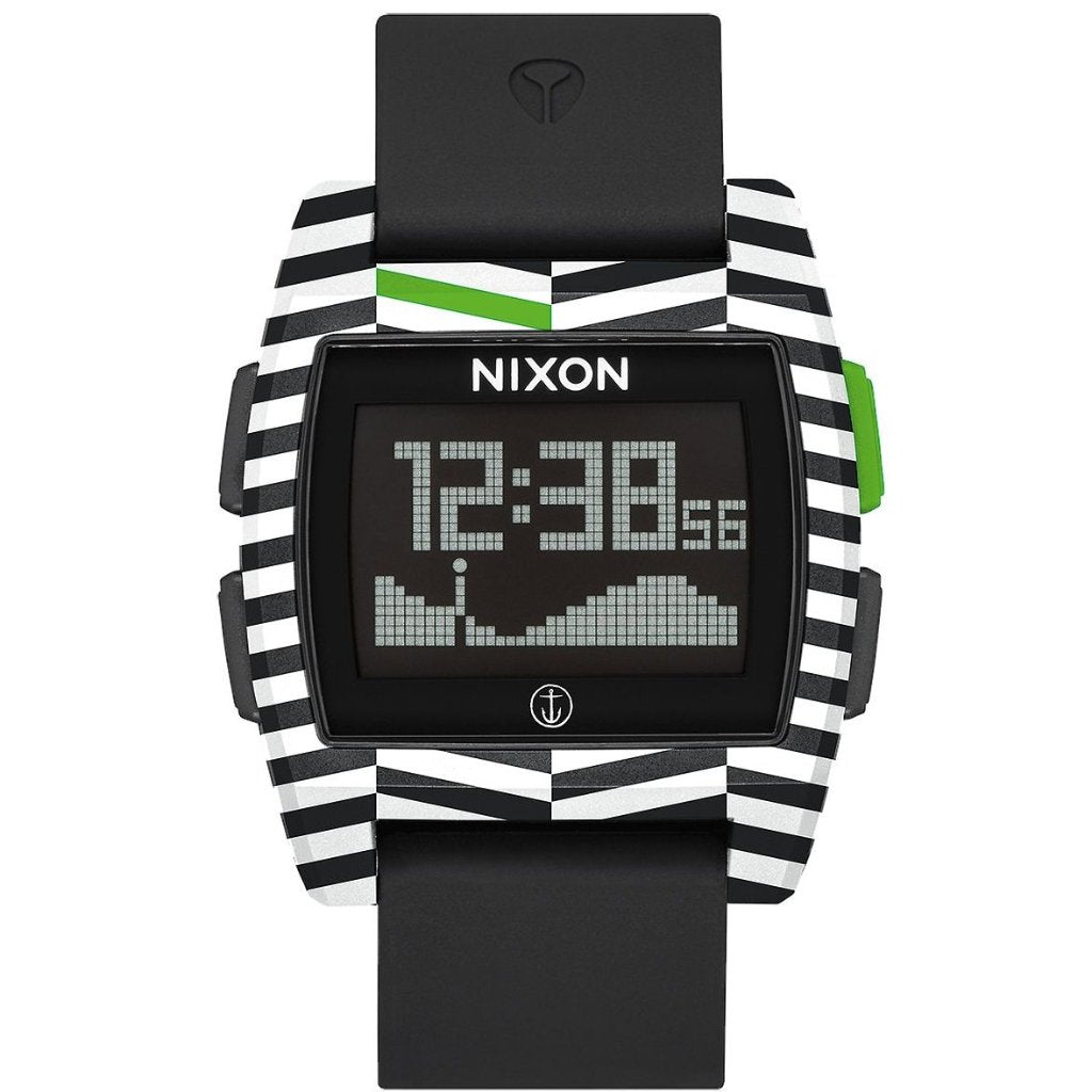 Nixon Base Tide Men's Watch - Black/Captain Fin