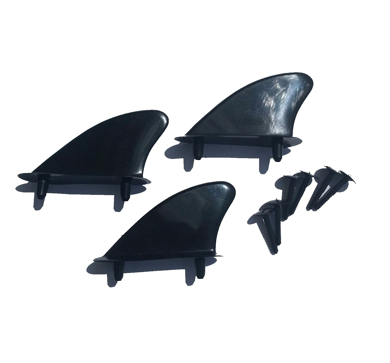 Block Surf Plastic Tri Fin Set