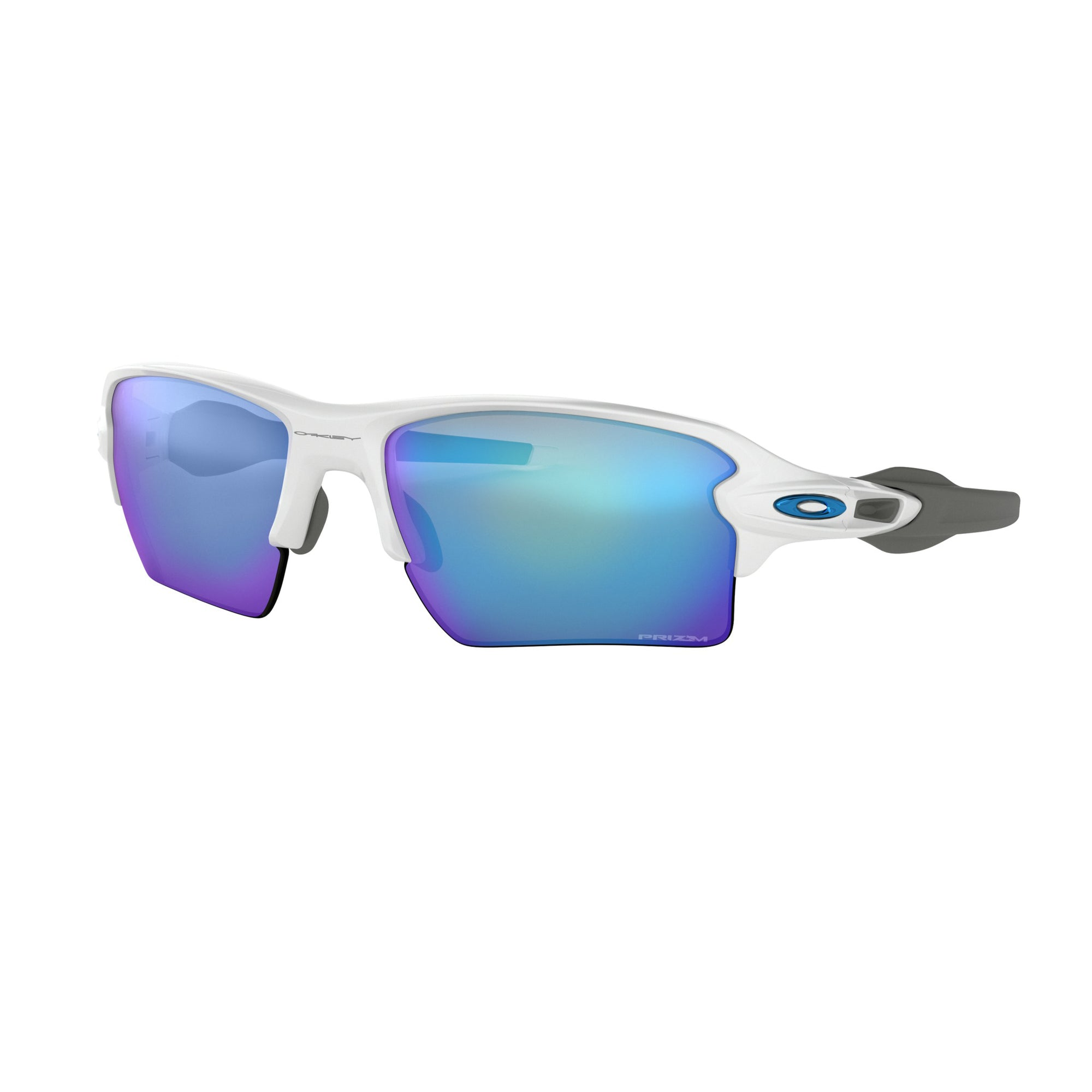 Oakley Flak 2.0 XL Men's Sunglasses - Polished White/Prizm Sapphire