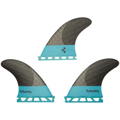 Futures V2 F4 Blackstix 3.0 Small Tri Fin Set - Turquoise