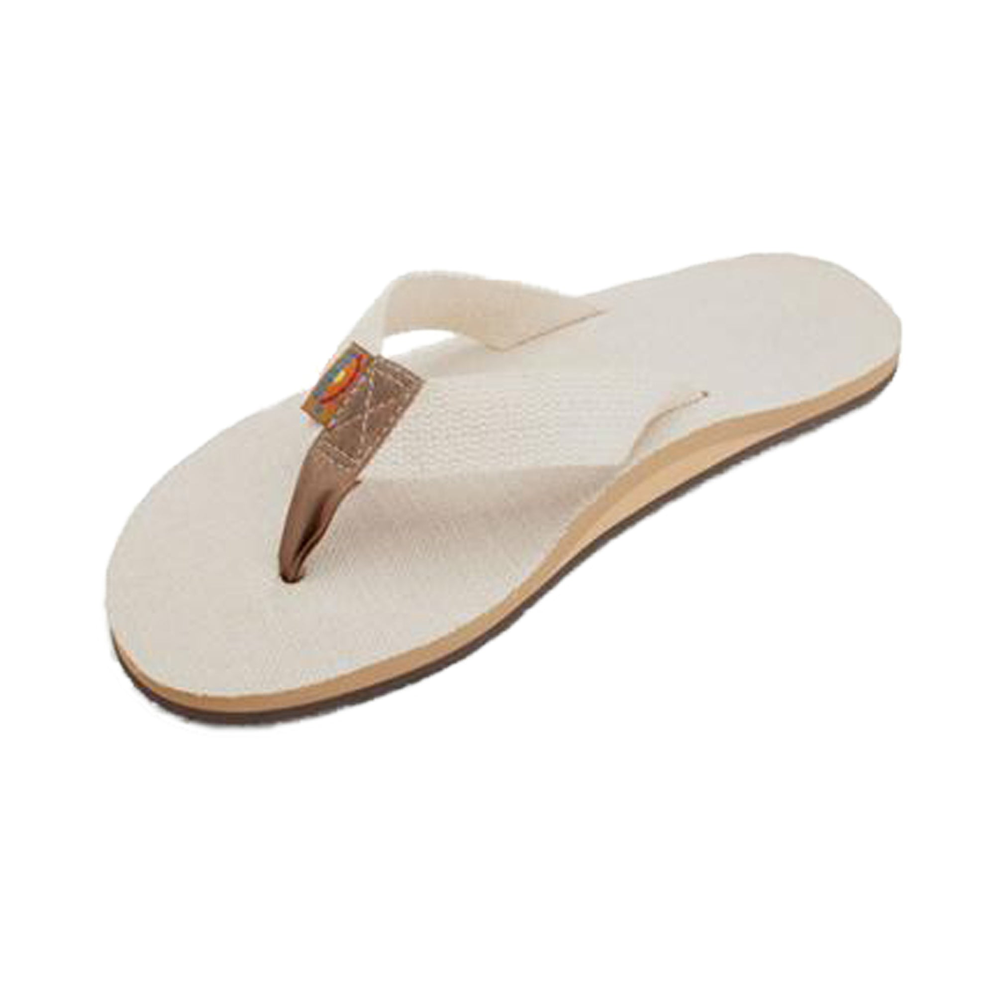 Rainbow Hemp Single Women's Sandal - Natural