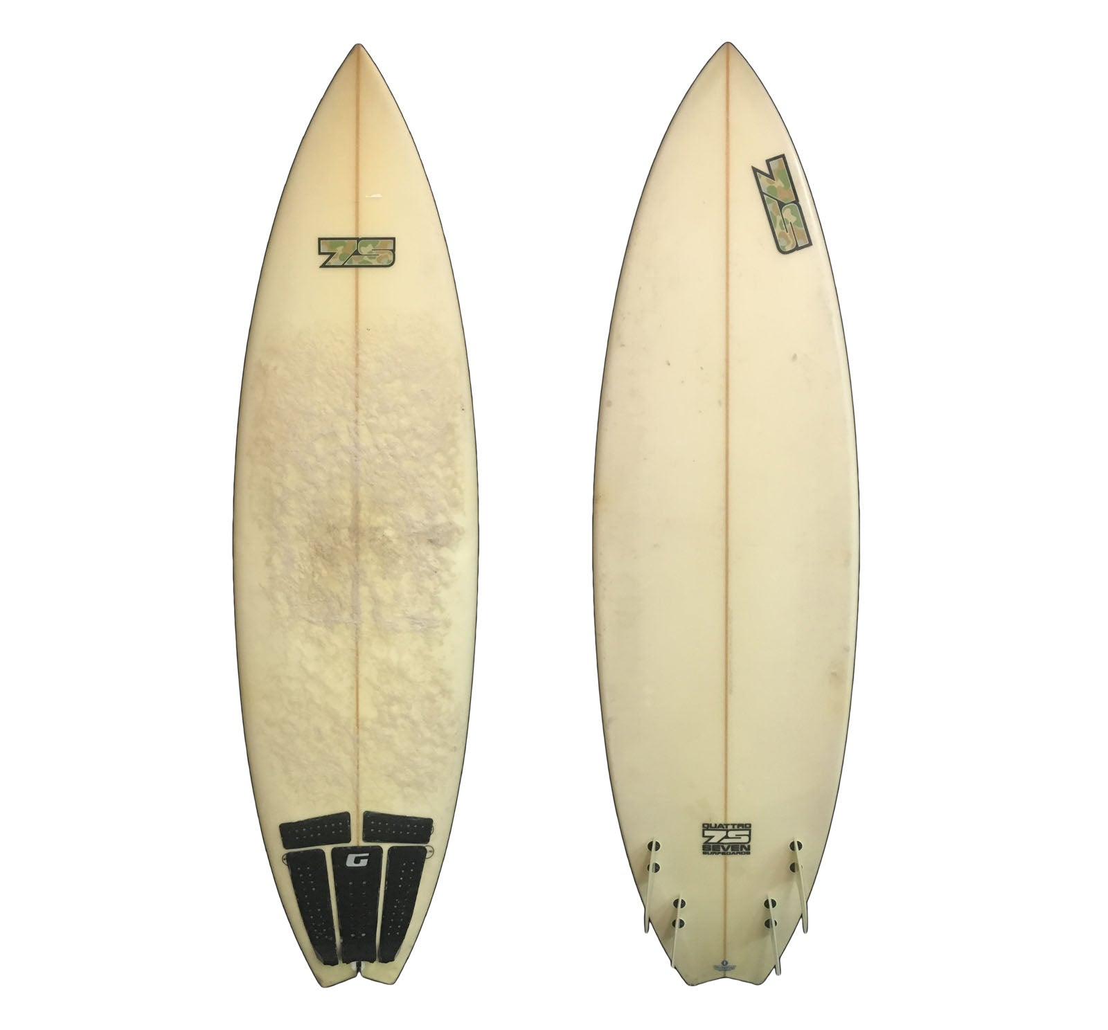 7S Quattro Quad Swallow Tail 6'3 Used Surfboard