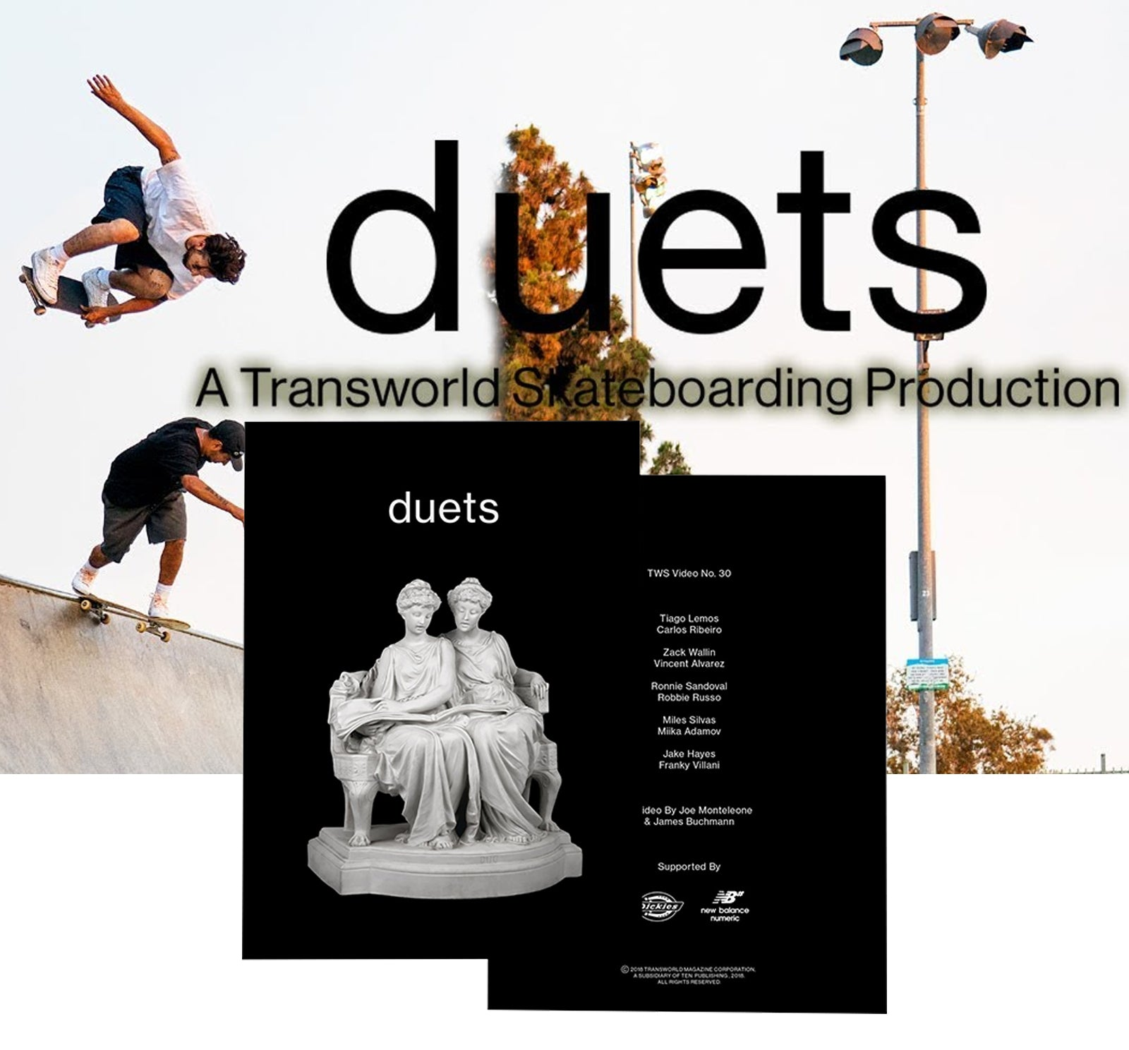 Transworld Duets Skate Movie DVD