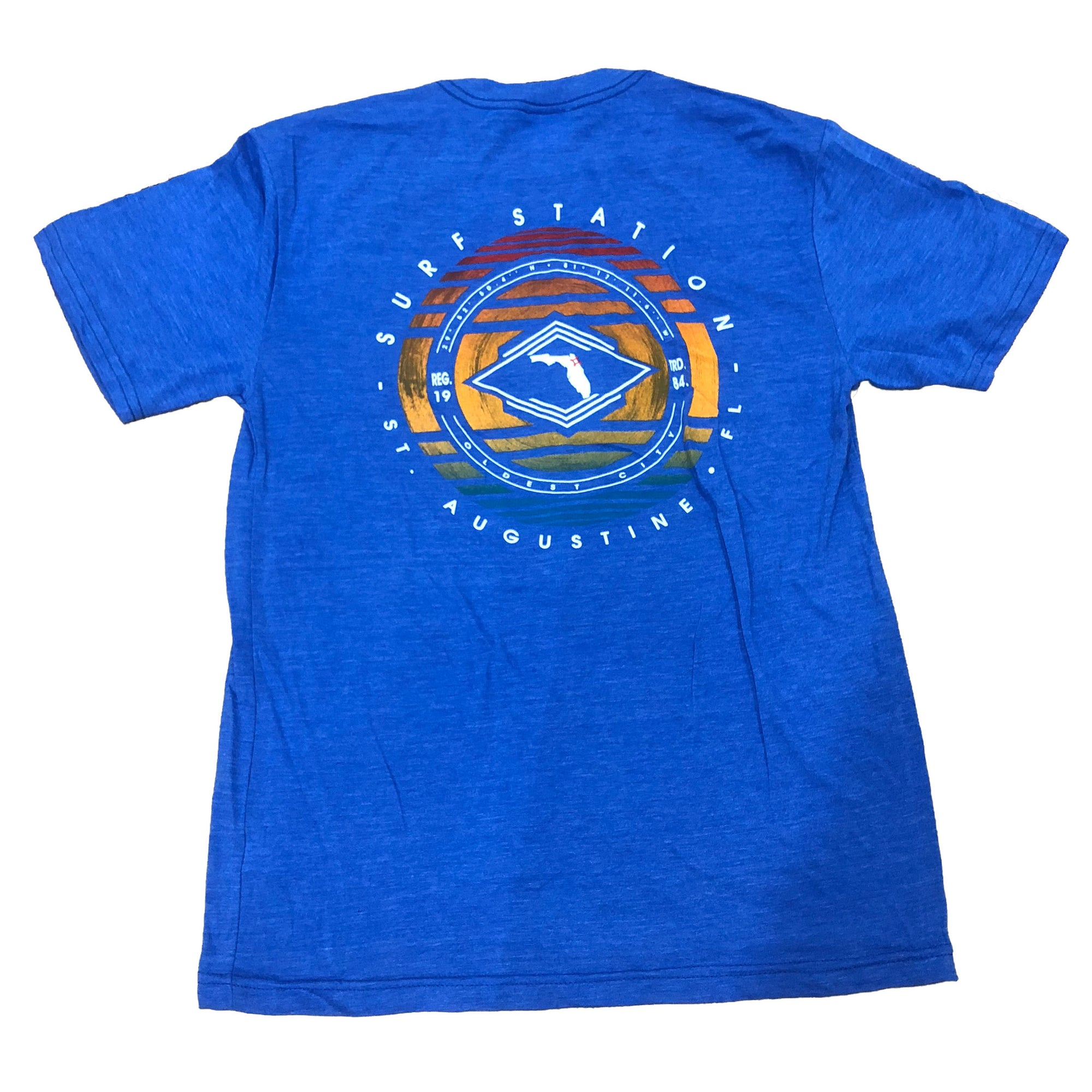 Surf Station Oldest City Coordinates Men's S/S T-Shirt