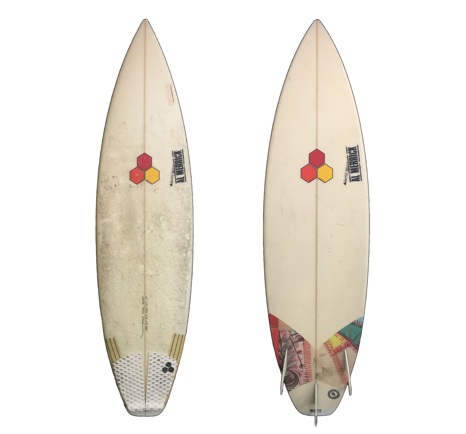 Channel Islands MB3 6'2 x 18 5/8 x 2 3/8 Used Surfboard (Glassed-On Fins) (Custom for Dane Reynolds)