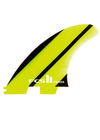 FCS II Carver Neo Glass Medium Tri Fins - Yellow/Black