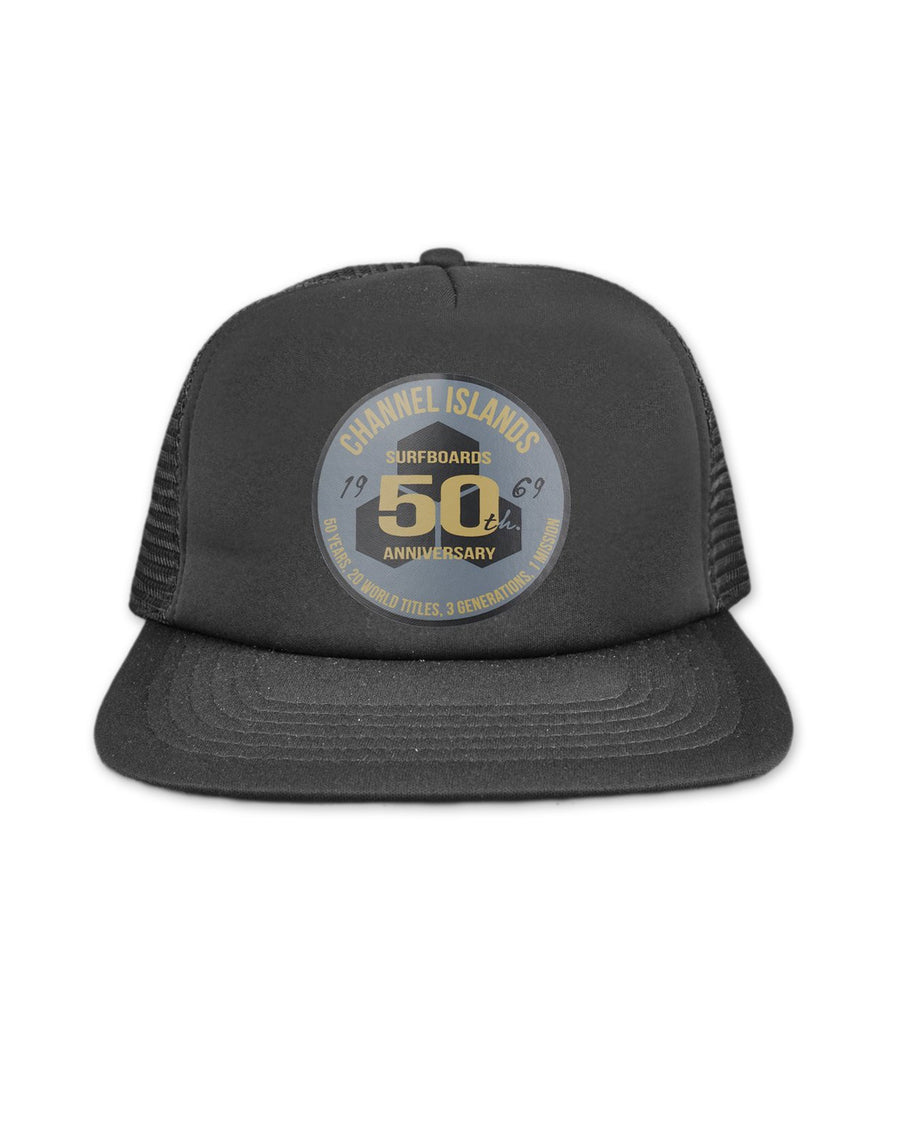 official photos ad758 eb88e Channel Islands 50 Year Men s Trucker Hat - Black