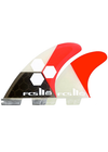 FCS II Channel Islands AM PC Medium Tri-Quad Fin Set - Red