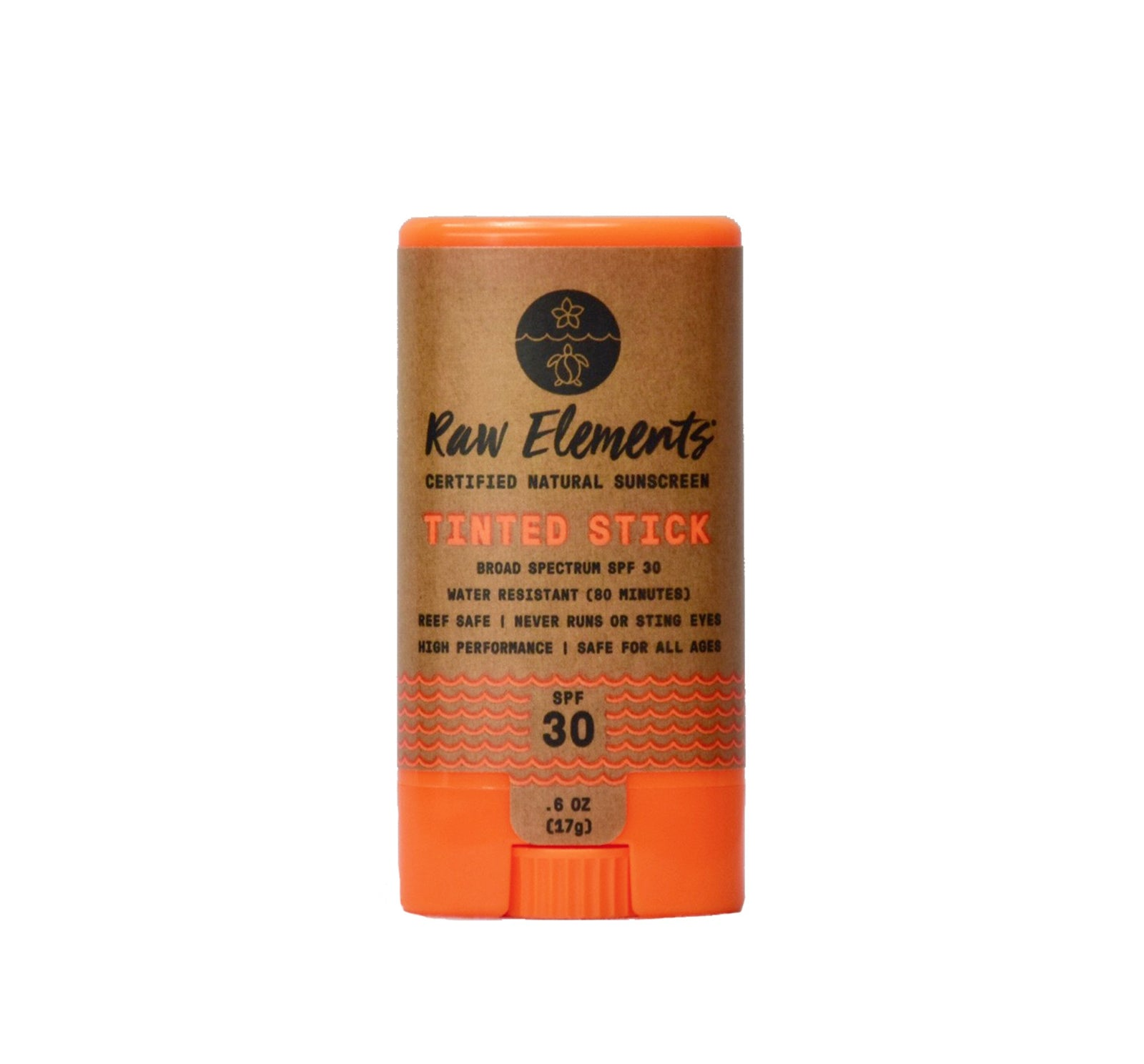 Raw Elements SPF 30 Face Stick Sunscreen - Tinted